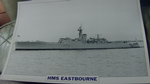 HMS Eastbourne 1955 warship framed picture